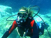 Diver in Bol underwater envvironment